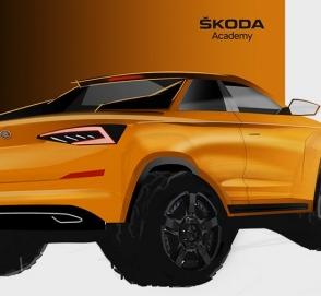 Skoda анонсировала пикап на базе кроссовера Kodiaq