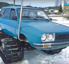 Турок превратил универсал Renault 12 в гусеничный вездеход