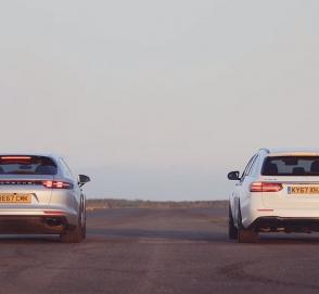 Два «горячих» универсала Porsche и Mercedes-AMG сразились в гонке по прямой