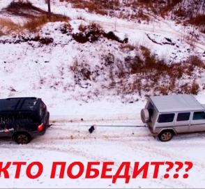 «Кто кого?»: Gelandewagen и Lexus LX перетягивают канат в снегу