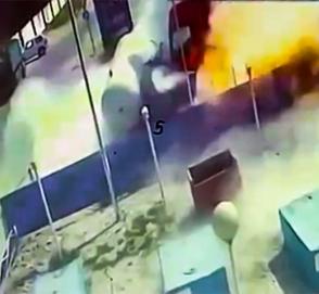 Водитель фуры взорвал АЗС в России
