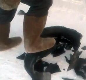 Что случается с шинами при 50-градусном морозе