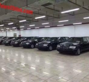 Китайские власти выставили на торги 8 лимузинов W140 Mercedes-Benz Pullman