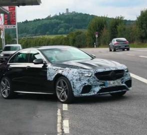 Новый Mercedes-AMG E63 вновь замечен на «Северной петле»