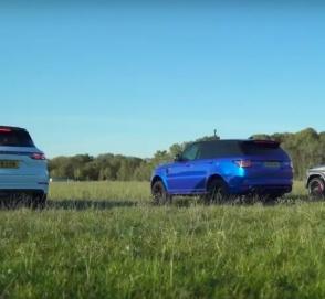 Кто кого? Битва Porsche Cayenne Turbo, Range Rover Sport SVR и Mercedes-AMG G 63