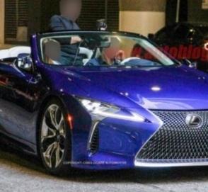 В Сети «рассекретили» cерийную вариацию кабриолета Lexus LC
