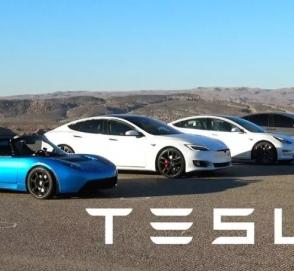 Все модели Tesla сравнили в гонке по прямой