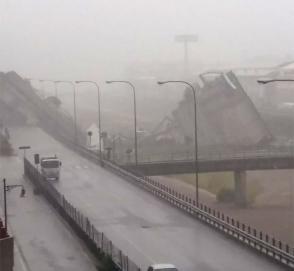 В Италии обрушился автомобильный мост: десятки погибших