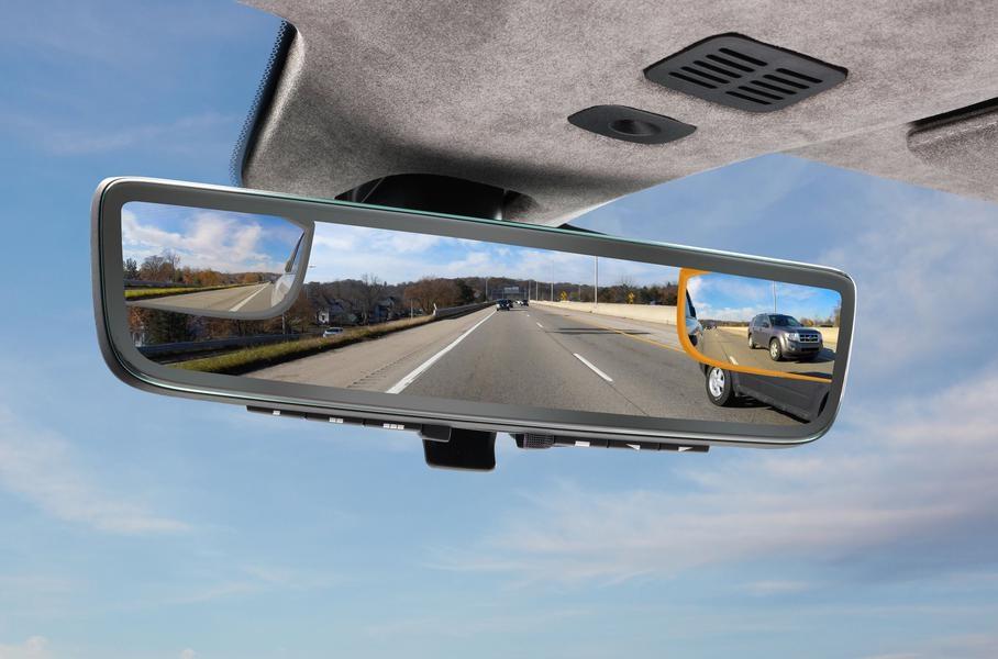 Aston Martin придумал гибридное салонное зеркало нового поколения