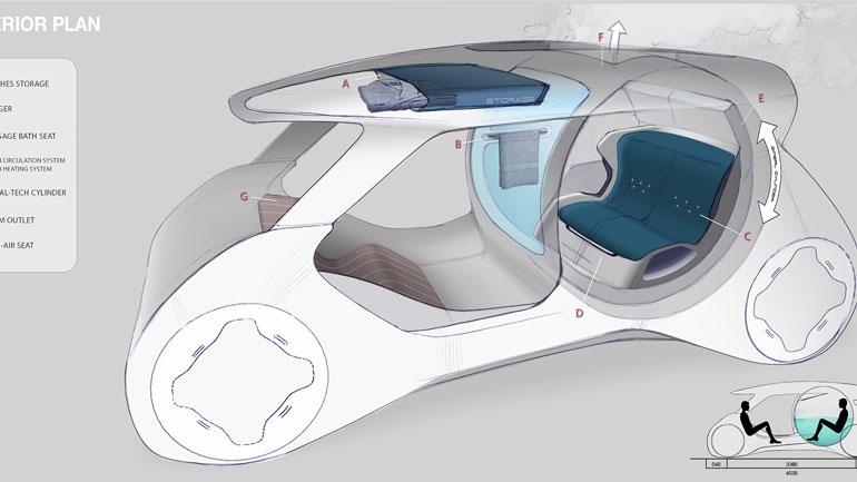Honda показала концепт беспилотника Onsen с ванной