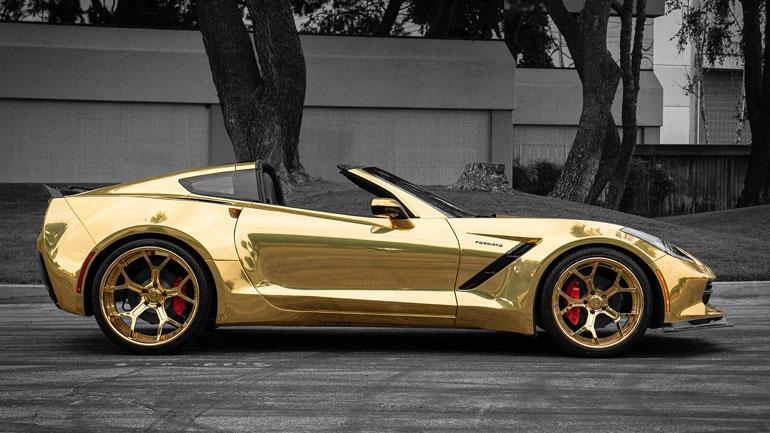 Тюнеры показали золотой Corvette C7