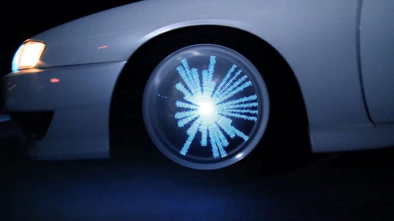 светящиеся картинки на колеса автомобиля политик