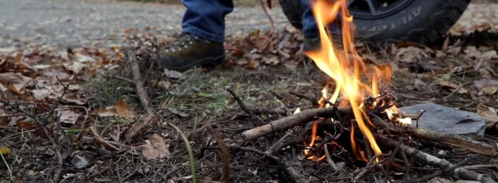 Как разжечь огонь с помощью автомобиля — AvtoBlog.ua