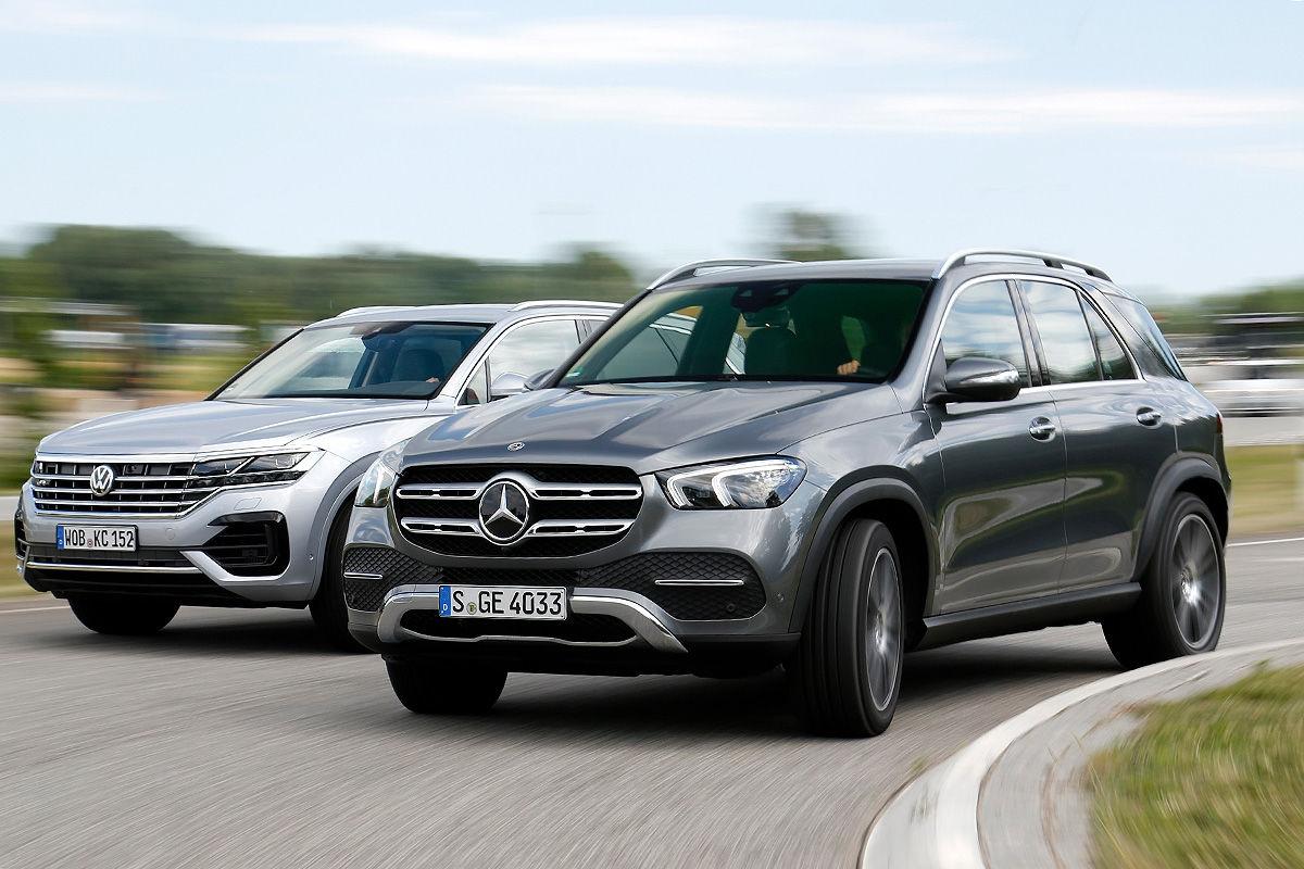 Mercedes GLE против VW Touareg: сравнительный тест